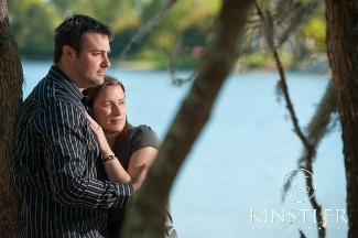Engagement portraits on the water
