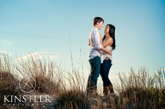 Engagement portraits on the beach