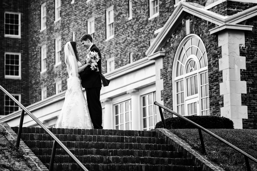 Black & White Bride and Groom Portrait