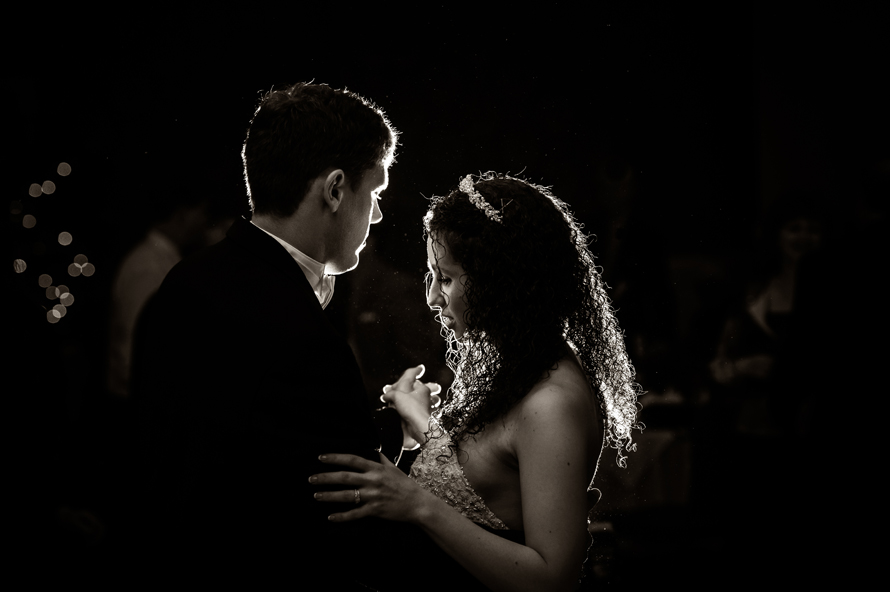 Backlight Wedding Portrait